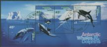 AAT SGMS112 Whales and Dolphins Miniature sheet
